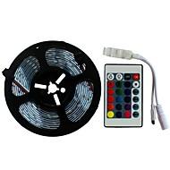 abordables -SENCART 5m Ensemble de Luminaires 300/150 LED SMD5050 1 24Keys Télécommande RVB Découpable / Décorative / Connectible 12 V 1 set