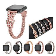 Недорогие Аксессуары для смарт-часов-Ремешок для часов для Fitbit Versa Fitbit Спортивный ремешок / Дизайн украшения Нержавеющая сталь Повязка на запястье