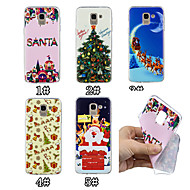 cheap Galaxy J Series Cases / Covers-Case For Samsung Galaxy J7 (2017) / J5 (2017) Pattern Back Cover Christmas Soft TPU for J7 (2017) / J6 (2018) / J5 (2017)