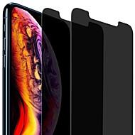 Недорогие Защитные плёнки для экрана iPhone-ASLING Защитная плёнка для экрана для Apple iPhone XR Закаленное стекло 2 штs Защитная пленка для экрана Уровень защиты 9H / 2.5D закругленные углы / Anti-Spy