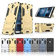 preiswerte Handyhüllen-Hülle Für Nokia Nokia 9 Stoßresistent / mit Halterung Rückseite Solide / Rüstung Hart PC für Nokia 9
