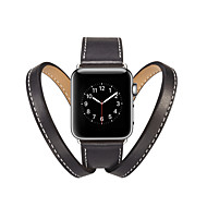 voordelige -Horlogeband voor Apple Watch Series 4 / Apple Watch Series 4/3/2/1 Apple Klassieke gesp Echt leer Polsband