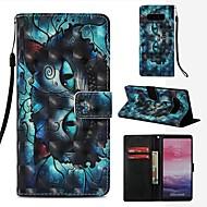 Недорогие Чехлы и кейсы для Galaxy Note 8-Кейс для Назначение SSamsung Galaxy Note 8 Кошелек / Бумажник для карт / Флип Чехол Кот Твердый Кожа PU для Note 8