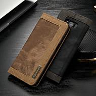Недорогие Чехлы и кейсы для Galaxy S-CaseMe Кейс для Назначение SSamsung Galaxy S8 Кошелек / Бумажник для карт / со стендом Чехол Однотонный Твердый текстильный для S8