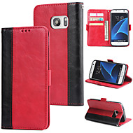 abordables Galaxy S7 Carcasas / Fundas-Funda Para Samsung Galaxy S7 Cartera / Soporte de Coche / Flip Funda Trasera Un Color Dura Cuero de PU para S7