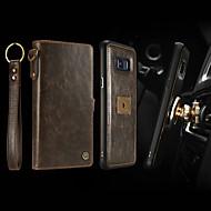 Недорогие Чехлы и кейсы для Galaxy S8 Plus-CaseMe Кейс для Назначение SSamsung Galaxy S8 Plus Кошелек / Бумажник для карт / Защита от удара Чехол Однотонный Твердый Кожа PU для S8 Plus