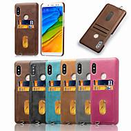 preiswerte Handyhüllen-Hülle Für Xiaomi Redmi Note 5 Pro Kreditkartenfächer / Mattiert Rückseite Solide Weich PU-Leder für Xiaomi Redmi Note 5 Pro / Redmi 6A