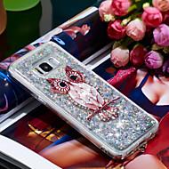 Недорогие Чехлы и кейсы для Galaxy S8-Кейс для Назначение SSamsung Galaxy S8 Защита от удара / Сияние и блеск Кейс на заднюю панель Сова / Сияние и блеск Мягкий ТПУ для S8