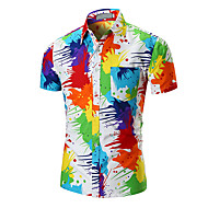 cheap -Men's Basic Shirt - Rainbow