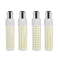 お買い得  LED コーン型電球-4本 8.5 W 1105 lm BA15D LEDコーン型電球 T 125 LEDビーズ SMD 2835 調光可能 温白色 / クールホワイト 220 V