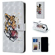 Недорогие Чехлы и кейсы для Galaxy S-Кейс для Назначение SSamsung Galaxy S9 Plus / S9 Кошелек / Бумажник для карт / со стендом Чехол Животное Твердый Кожа PU для S9 / S9 Plus / S8 Plus