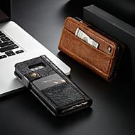 Недорогие Чехлы и кейсы для Galaxy Note-CaseMe Кейс для Назначение SSamsung Galaxy S9 / Note 9 Кошелек / Бумажник для карт / со стендом Чехол Однотонный Твердый Кожа PU для S9 / S9 Plus / S8 Plus