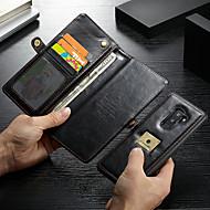 Недорогие Чехлы и кейсы для Galaxy S9 Plus-CaseMe Кейс для Назначение SSamsung Galaxy S9 Plus Кошелек / Бумажник для карт / Защита от удара Чехол Однотонный Твердый Кожа PU для S9 Plus