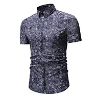 cheap -Men's Active / Boho Shirt - Geometric / Galaxy Print