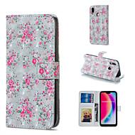 preiswerte Handyhüllen-Hülle Für Huawei P20 Pro / P20 lite Geldbeutel / Kreditkartenfächer / mit Halterung Ganzkörper-Gehäuse Blume Hart PU-Leder für Huawei P20 Pro / Huawei P20 lite / P10 Lite
