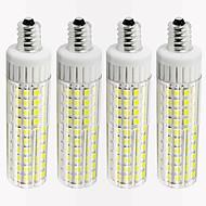 お買い得  LED コーン型電球-4本 8.5 W 1105 lm E12 LEDコーン型電球 T 125 LEDビーズ SMD 2835 調光可能 温白色 / クールホワイト 220 V