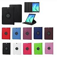 Недорогие Чехлы и кейсы для Samsung Tab-Кейс для Назначение SSamsung Galaxy / Вкладка S2 8.0 / Вкладка S2 9.7 со стендом / Флип / Поворот на 360° Чехол Однотонный Твердый Кожа PU для