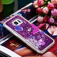 Недорогие Чехлы и кейсы для Galaxy S7 Edge-Кейс для Назначение SSamsung Galaxy S7 edge Защита от удара / Сияние и блеск Кейс на заднюю панель Бабочка / Сияние и блеск Мягкий ТПУ для S7 edge