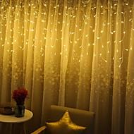 tanie -światła świąteczne dekoracje na zewnątrz 3m droop 120led zasłony sopel sznurek światła ogród xmas party dekoracyjne światła wesele święto festiwalu