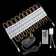 abordables Barras Rígidas de Luces LED-ZDM® 3.3m Tiras LED Rígidas / Sets de Luces 60 LED SMD5050 Controlador remoto de 1 44 teclas / 1 cable de CA / Adaptador de corriente 1 x 2A RGB Impermeable / Creativo / Fiesta 12 V / 120-240 V 1