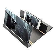 12インチアクリル3d電話スクリーン拡大鏡軽量折りたたみデザインhdビデオ虫眼鏡アイプロテクタースマートフォンブラケット