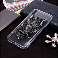 케이스 제품 Apple iPhone XR / iPhone XS Max 투명 / 패턴 뒷면 커버 부엉이 소프트 TPU 용 iPhone XS / iPhone XR / iPhone XS Max