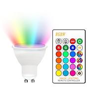 tanie -KWB 1 zestaw 5 W 400-450 lm GU10 / E26 / E27 Żarówki punktowe LED 2 Koraliki LED COB Przygaszanie / Dekoracyjna / Przejście kolorów RGBW 85-265 V