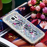 Недорогие Чехлы и кейсы для Galaxy S7 Edge-Кейс для Назначение SSamsung Galaxy S7 edge Защита от удара / Сияние и блеск Кейс на заднюю панель Сияние и блеск Мягкий ТПУ для S7 edge