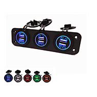 Недорогие Автомобильные зарядные устройства-lossmann жарко! три отверстия панели с USB. водонепроницаемый мода красивая