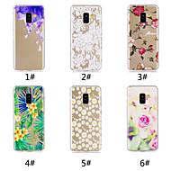 Недорогие Чехлы и кейсы для Galaxy A5(2016)-Кейс для Назначение SSamsung Galaxy A8 Plus 2018 / А7 (2018) С узором Кейс на заднюю панель Цветы Мягкий ТПУ для A6 (2018) / A6+ (2018) / A7(2018)
