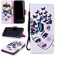 cheap -Case For Samsung Galaxy S9 Wallet / Card Holder / Shockproof Full Body Cases Butterfly / Sexy Lady Hard PU Leather for S9