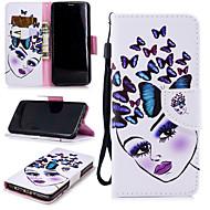 Недорогие Чехлы и кейсы для Galaxy S-Кейс для Назначение SSamsung Galaxy S9 Кошелек / Бумажник для карт / Защита от удара Чехол Бабочка / Соблазнительная девушка Твердый Кожа PU для S9