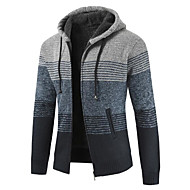 cheap -Men's Daily Solid Colored Long Sleeve Regular Pullover Red / Dark Gray / Light gray XL / XXL / XXXL