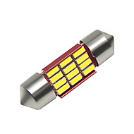 cheap -SO.K 4pcs 31mm Car Light Bulbs 3 W SMD 4014 250 lm 12 LED Interior Lights For universal All years