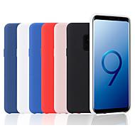 Недорогие Чехлы и кейсы для Galaxy S7 Edge-Кейс для Назначение SSamsung Galaxy S9 Plus / S9 Матовое Кейс на заднюю панель Однотонный Мягкий ТПУ для S9 / S9 Plus / S8 Plus