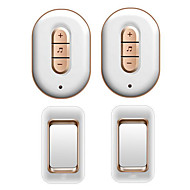 cheap -Factory OEM Wireless Two to Two Doorbell Music / Ding dong Non-visual doorbell Surface Mounted