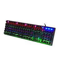 お買い得  -OEM Q1 ケーブル / ワイヤー RGBバックライト クリアスイッチ / キーボード 104 pcs ゲーム用キーボード バックライト / こぼれにくい USBパワード / 外部電源 動力
