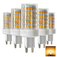 お買い得  -5個 10 W 600-800 lm G9 LED2本ピン電球 T 86 LEDビーズ SMD 2835 温白色 / クールホワイト 220-240 V