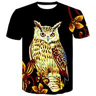 cheap -Men's Basic / Street chic T-shirt - Color Block / Animal Print