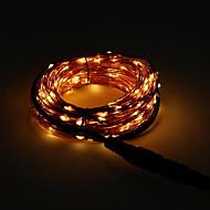 voordelige -10M Verlichtingsslingers 100 LEDs Oranje Feest 220-240 V 1 set