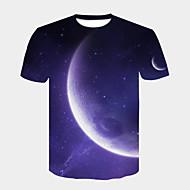 cheap -Men's Street chic / Punk & Gothic T-shirt - Color Block Print