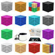 ราคาถูก ของเล่นและเกม-216 pcs 5mm Magnetiske leker ลูกบอลแม่เหล็ก ของเล่นแม่เหล็ก ซูเปอร์แข็งแกร่งหายากของโลกแม่เหล็ก Magnetic ความเครียดและความวิตกกังวลบรรเทา ของเล่นโต๊ะทำงาน บรรเทา ADD, ADHD, ความวิตกกังวลออทิสติก
