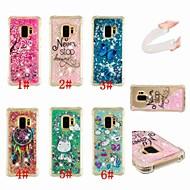 Недорогие Чехлы и кейсы для Galaxy S8 Plus-Кейс для Назначение SSamsung Galaxy S9 Plus / S8 Защита от удара / Движущаяся жидкость / Прозрачный Кейс на заднюю панель единорогом / Ловец снов / Сияние и блеск Мягкий ТПУ для S9 / S9 Plus / S8 Plus
