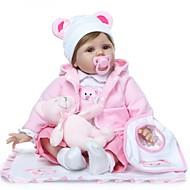 お買い得  -NPKCOLLECTION リボーンドール ガールドール 赤ちゃん(女) 24 インチ 生き生きとした プレゼント 人工インプラントブラウンアイズ 子供 女の子 おもちゃ ギフト