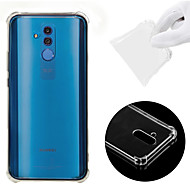 رخيصةأون تسوق حسب موديل الهاتف-غطاء من أجل Huawei Huawei Mate 20 Lite ضد الصدمات / شفاف غطاء خلفي لون سادة ناعم TPU إلى Huawei Mate 20 lite