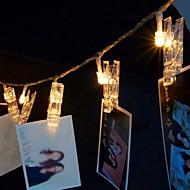 お買い得  -3M ストリングライト 20 LED 温白色 装飾用 220-240 V 1セット
