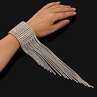 levne -Dámské Tenisový řetězec Tenisové Náramky - Luxus Náramky Šperky Zlatá / Stříbrná Pro Svatební Párty Bar