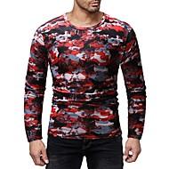 cheap -Men's Basic T-shirt - Color Block / Camouflage Print