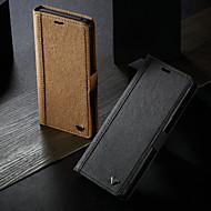 Недорогие Чехлы и кейсы для Galaxy S7-WHATIF Кейс для Назначение SSamsung Galaxy S9 Plus / Note 9 Кошелек / Бумажник для карт / со стендом Чехол Однотонный Твердый Кожа PU для S9 / S9 Plus / S8 Plus