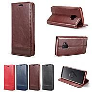 voordelige -hoesje Voor Samsung Galaxy S9 Plus / S8 Plus Portemonnee / Kaarthouder / Schokbestendig Volledig hoesje Effen Hard PU-nahka voor S9 / S9 Plus / S8 Plus